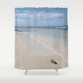 Seashell on Caribbean Beach Shower Curtain by Christine Aka Stine1