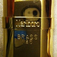 Vintage Marlboro Solid Brass Fluid Lighter No 6 1991 NIP