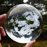 Crystal Dragon Ball Feng Shui Glass Desk Decorative