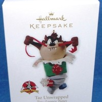 2010 Taz Unwrapped Hallmark Looney Tunes Retired Ornament