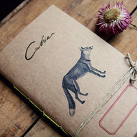Red Fox Notebook, Recycled paper journal, Travel diary