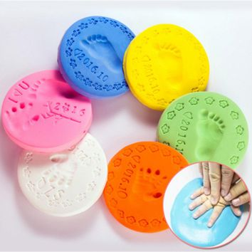Baby Care Air Drying Handprint Footprint Imprimt Kid Casting DIY Tool Soft Plasticine Polymer Clay Toy Sclae
