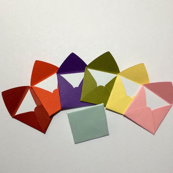 Mini square envelopes with notecards 1x1""