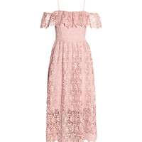 H&M Off-the-shoulder Lace Dress $89.99