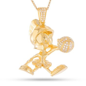 Space Jam x KING ICE - .925 Sterling Silver Marvin the Martian Necklace