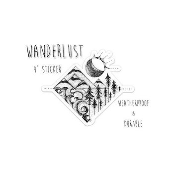 Wanderlust Sticker 4""