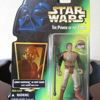 Lando Calrissian As Skiff Guard - Star Wars Power of the Force - Green Card - Action Figure