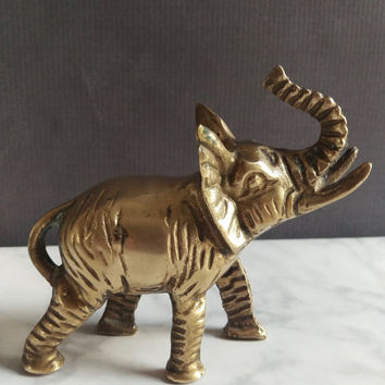 Elephant Decor/ Elephant Nursery/ Elephant Baby Shower/ Baby Elephant/ Brass Elephant Figurine/ Brass Elephant/ Baby Elephant Nursery
