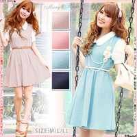 Rakuten: [waist 細魅 せ ♪ back satin Georgette color flare one piece DV-NT-12-15 ] P]It has been had ◆- Shopping Japanese products from Japan