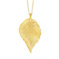 The Sweetest Thing Raspberry Leaf Necklace In 18k Gold plated Sterling Silver *Free Shipping*