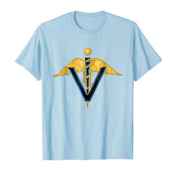 Winged Snake Caduceus Veterinarian Doctor t-shirt