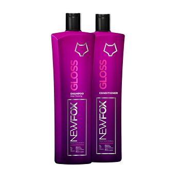 NEW FOX GLOSS HAIR SMOOTHING KERATIN TREATMENT  KIT 33,81fl.Oz.