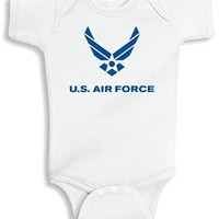 Lil Shirts Us Air Force Blue Baby Bodysuit
