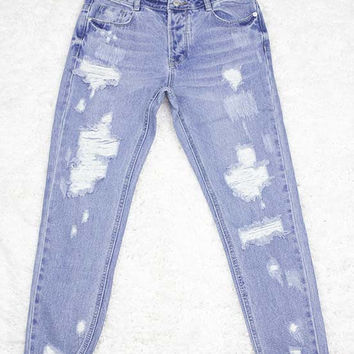 Cheralynn Distressed Jeans