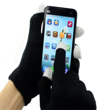 snowshine #3522 Unisex Magic  Screen Gloves Texting Smartphone iphone Stretch Winter Knit free shipping *yf1