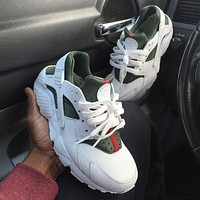 Nike Gucci Drops The Air Huarache Ultra New Fashion Sports Shoes White&Green