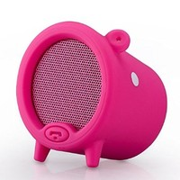 SOLEMEMO Piggy Detachable Mini Portable Stereo Wireless Bluetooth Speaker with Hands-free Mic(Red)