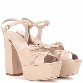 Candy 80 leather plateau sandals