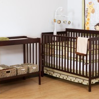 StorkCraft Milan Crib and Changer Combo