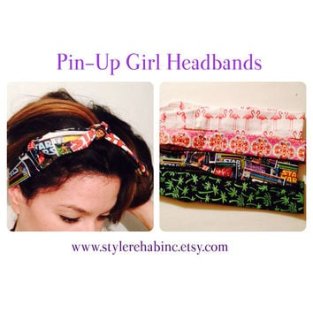 Star Wars Headband. Ties on top. Pin up girl, Rockabilly style. Tattoo retro woman. Hair