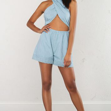 Playsuit in Blue