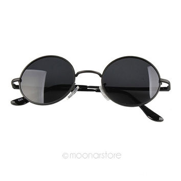 Retro Vintage Hipster Celebrity Unisex Round Circle Arm Sunglasses Shades = 1946518852