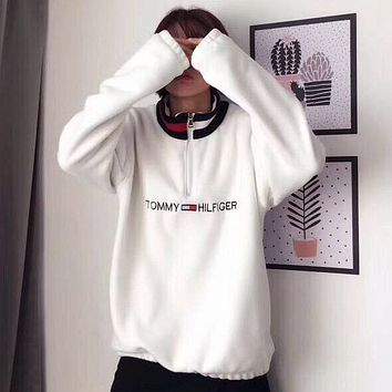 """ Tommy Hilfiger ""Fashion Long Sleeve Pullover Sweatshirt Top Sweater"