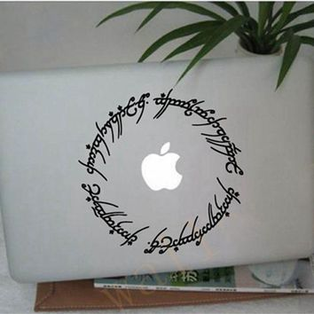 "Free shipping hobbit stickers 6"" Elvish circle decal inspired by The Lord of the Rings for Macbook, Laptop, etc.."