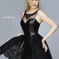 Sherri Hill 32299 Fitted Sequin Party Dress