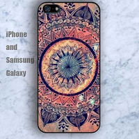 Mandala pattern Old pattern colorful iPhone 5/5S case Ipod Silicone plastic Phone cover Waterproof