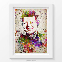 John F. Kennedy Poster, John F. Kennedy Print, John F. Kennedy Art, JFK Decor, Home Decor, Gift Idea