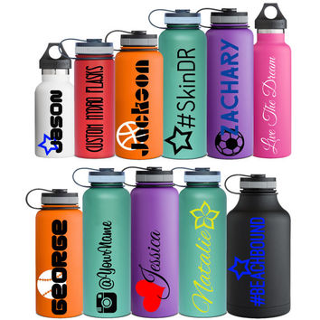 Name Decal Personalized for Hydro Flask Water Bottle Custom Vinyl