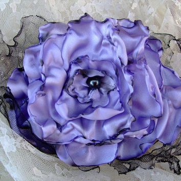 Lavender Flower Hair Clip Bridal Wedding by OurPlaceToNest on Etsy