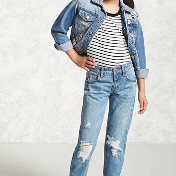 Girls Distressed Jeans (Kids)