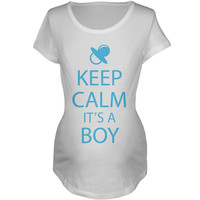 Keep Calm It's a Boy Maternity T-Shirt