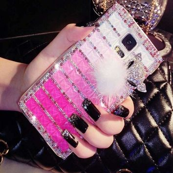 Diamonds Plaid Rhinestone Galaxy Case