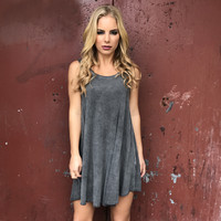 Friend Zone Tunic Grey Dress