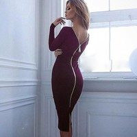 Sexy Dresses Women Clothing Back  Sexy Pencil Tight Dress