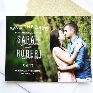 Modern Save the Date Photo Card - DEPOSIT