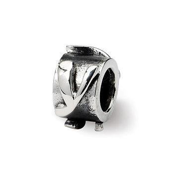 Sterling Silver Letter Y, Alphabet Bead Charm