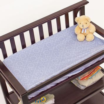 Nurture Elephant Jubilee Velour Changing Pad Cover (Blue)