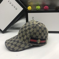 Gucci Women Men Embroidery Sports cap Baseball Cap Hat