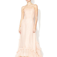 Sweet Tea Silk Organza Gown by BHLDN at Gilt