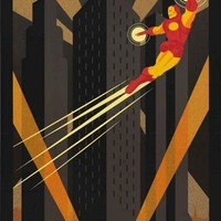 Iron Man Art Deco Marvel Comics Poster 24x36