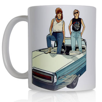Coffee Mug / Thelma & Louise Coffee Mug / Gift for Her / BFF Gift / Funny Mug / 90s Mug / Pop Culture Mug / Unique Mug / Ceramic Mug