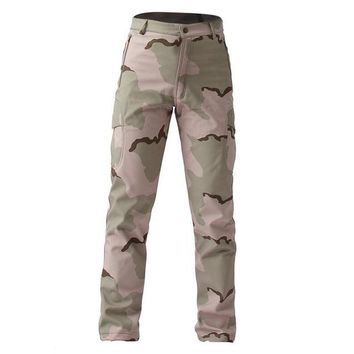 CKAHSBI Outdoor Hiking Pants Winter Climbing Camouflage Trousers Hunting Men Military Army Pant Thick Trekking Camping Pants