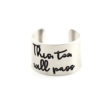 This Too Will Pass Statement Ring