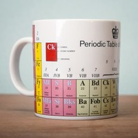 PERIODIC TABLE OF SWEARING MUG