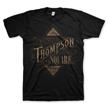 Thompson Square Logo - Mens Black T-Shirt