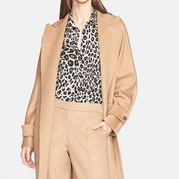 Women's Max Mara 'Megaton' Camel Hair Wrap Coat,
